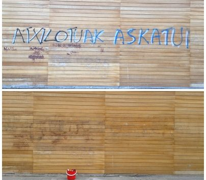 Civivox Iturrama pintadas grafiti
